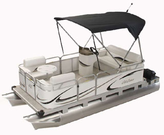 Family Cruise Pontoon Boats Mini, Compact and Small from Gillgetter