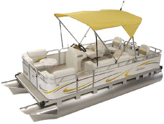 Rear Fish Compact Pontoon Boats