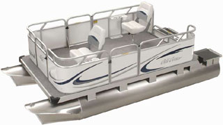 Tiller Mini Pontoon Boat from Gillgetter